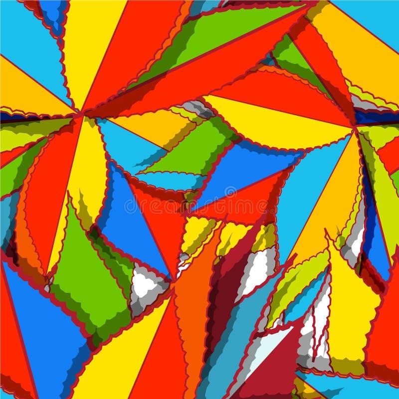 jaskrawy liść ilustracja wektor