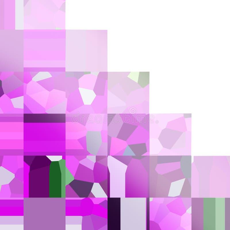 Jaskrawy lily w kratkę wzór Mozaika geometryczni kształty Barwioni wieloboki Abstrakcjonistyczny tło z pustą przestrzenią ilustracja wektor
