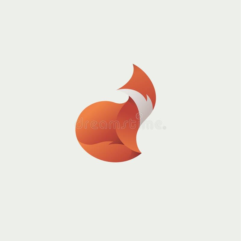 Jaskrawy lisa logo gradientu wektor ilustracji