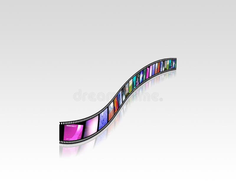 Jaskrawy materiał filmowy ilustracja wektor