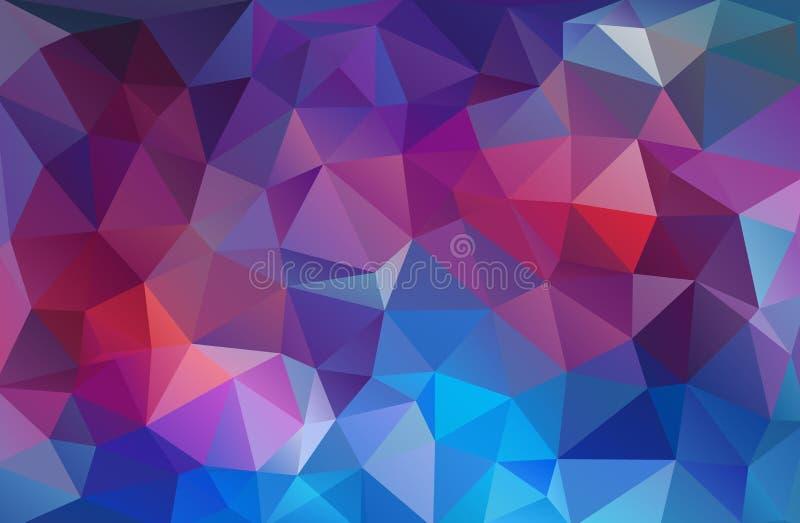 Jaskrawy mulicolor trójboka mozaiki tło ilustracja wektor