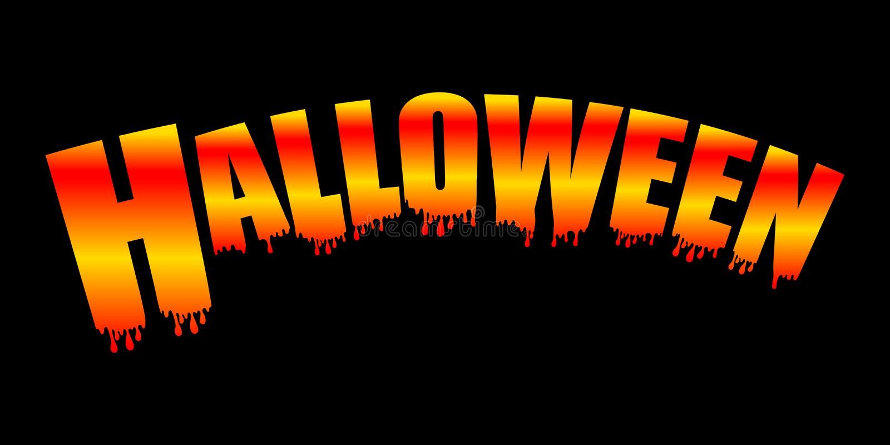 Jaskrawy neonowy Halloweenowy teksta sztandar odizolowywający na czarnym tle wektor ilustracja wektor