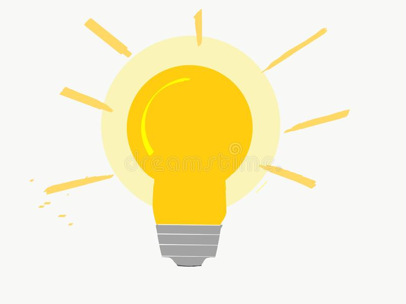 Jaskrawy olśniewający lightbulb z pomarańcze i kolorów żółtych kolorami ilustracji