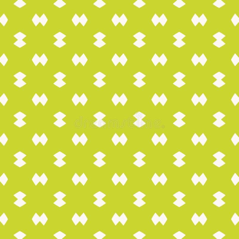 Jaskrawy ostry zielony minimalistyczny bezszwowy wzór Prosta wektorowa abstrakcjonistyczna tekstura royalty ilustracja