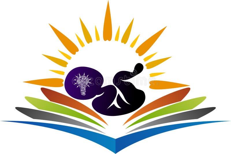 Jaskrawy płód edukaci logo ilustracji