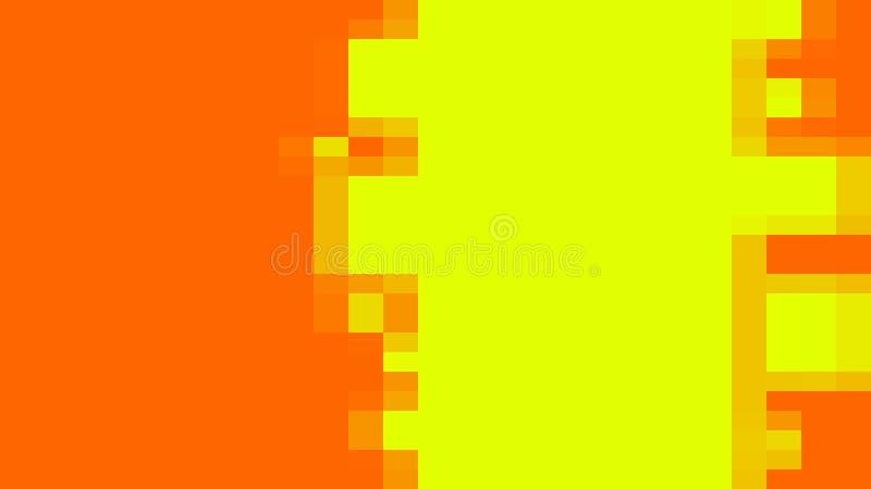 Jaskrawy piksla tło z prostymi kształtami - kreskówki sztuka, 3d odpłaca się tło, komputer wytwarzający ilustracji
