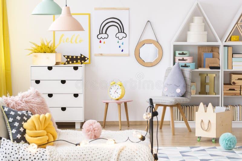Jaskrawy playroom wnętrze zdjęcie stock