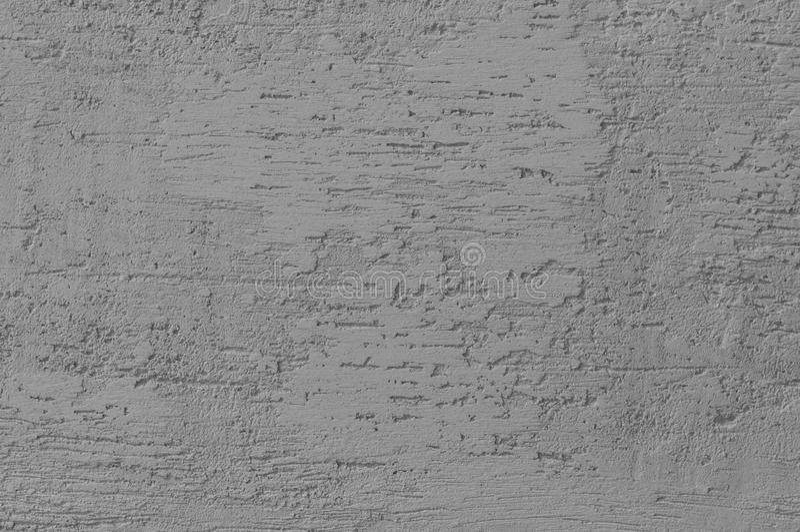 Jaskrawy Popielaty Grunge Gipsująca Ścienna Sztukateryjna tekstura, Horyzontalnego Szczegółowego Naturalnego narysu Grungy Szary  obraz stock