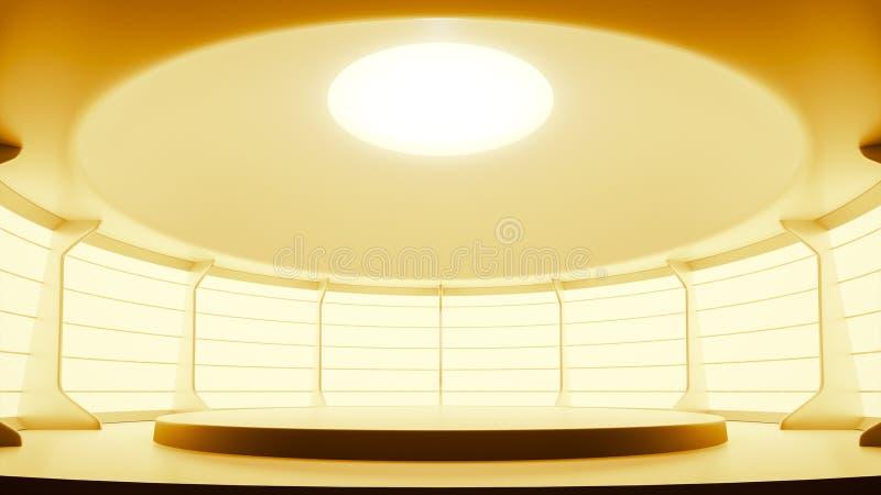 jaskrawy pracowniany estradowy podium pokój ilustracja wektor