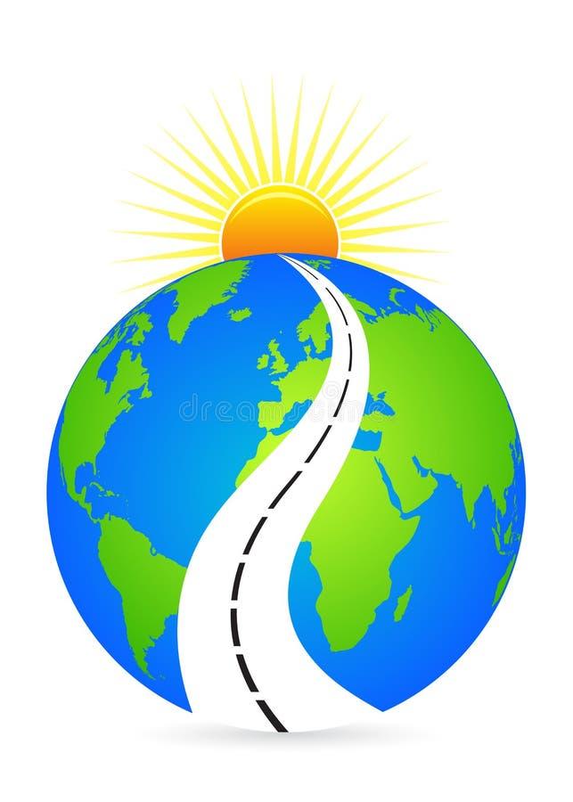 jaskrawy przyszłościowa droga ilustracji