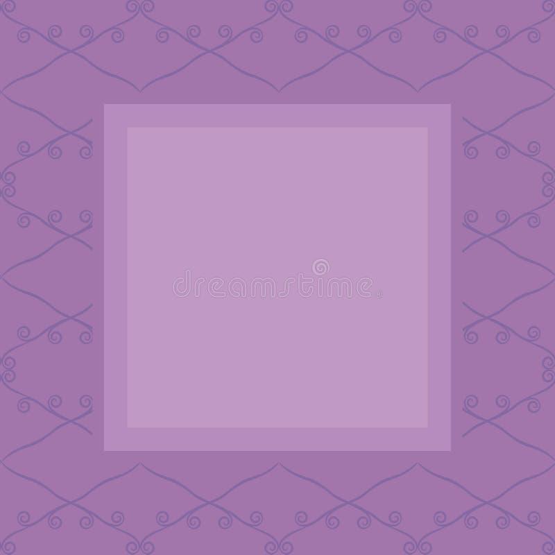 Jaskrawy purpurowy retro bezszwowy wektorowy tło naszli ciemni purpurowi rhombuses wykłada i fryzuje na lekkim purpurowym tle l royalty ilustracja