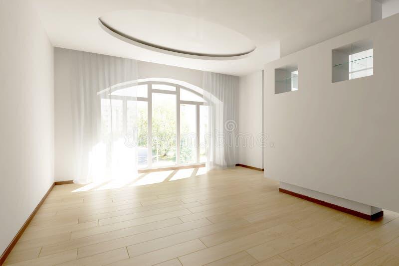 Download Jaskrawy pusty pokój ilustracji. Ilustracja złożonej z niezrównoważenie - 13325894