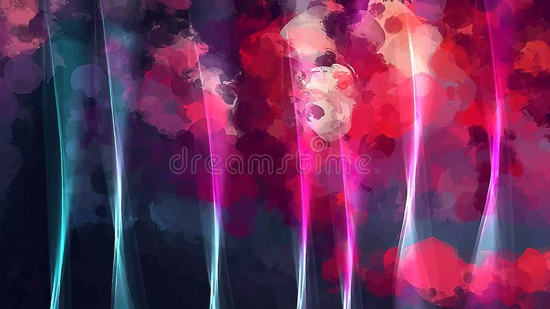 Jaskrawy różowy jedwabniczy zasłony tło amerykanin dekoruje projekta patriotycznych ustalonych symboli/lów wektorową wersję ilustracji