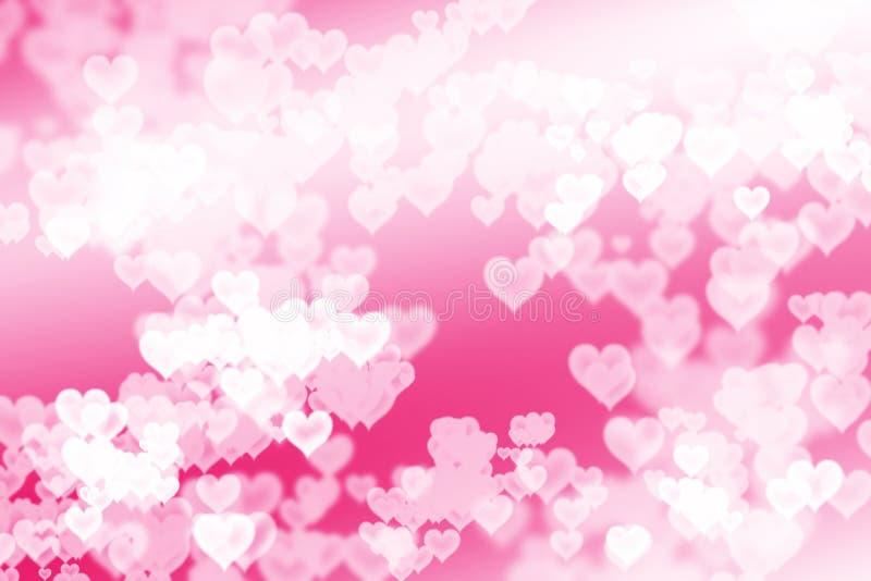 Jaskrawy różowy serca tło fotografia stock