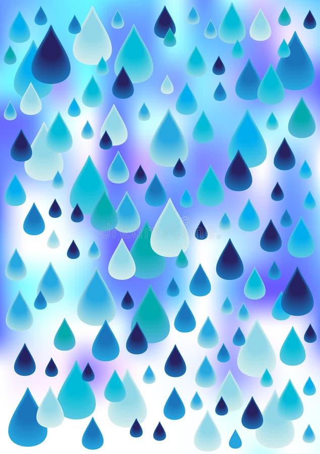 Jaskrawy raindrops tło ilustracja wektor