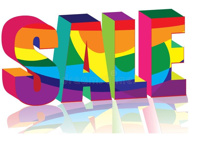 Download Jaskrawy sprzedaż ilustracja wektor. Ilustracja złożonej z tęcza - 13341429