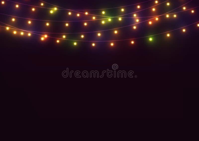 jaskrawy tło światła ilustracja wektor