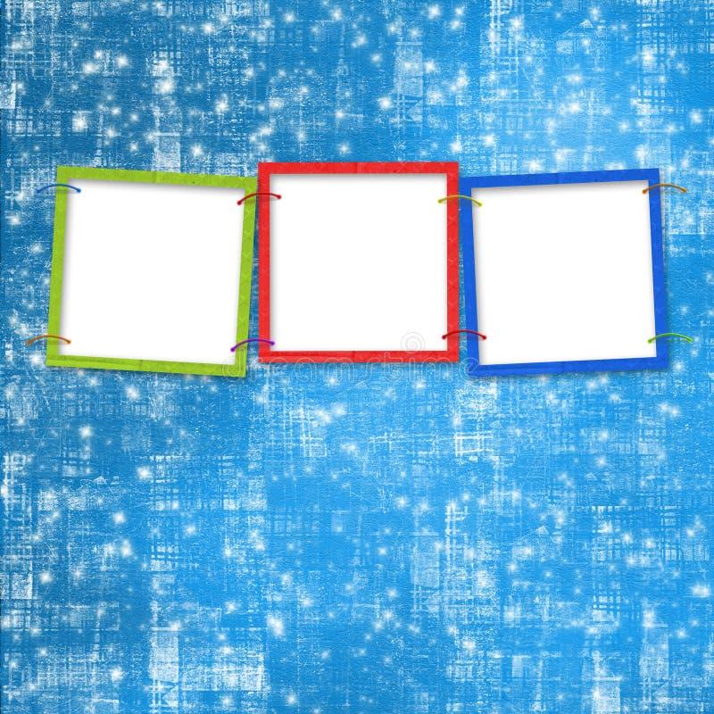 jaskrawy tło ramy trzy ilustracja wektor