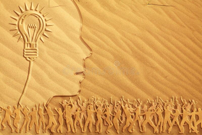 jaskrawy tana pomysłu piasek obrazy royalty free