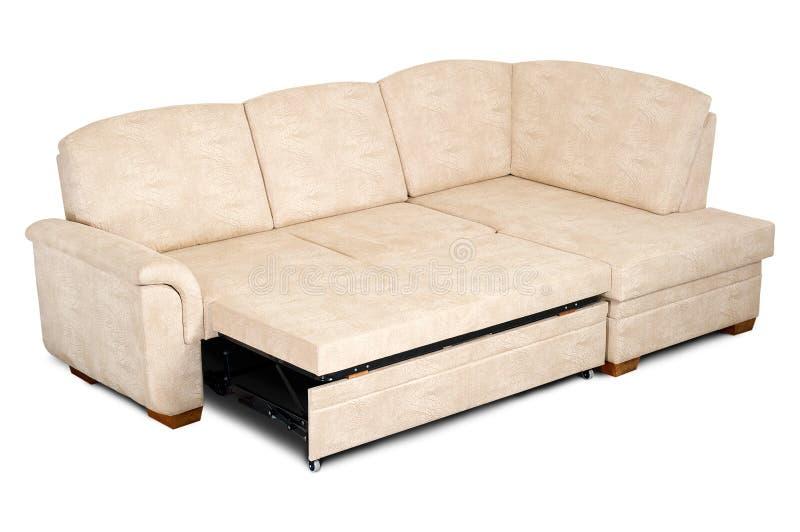 jaskrawy tkaniny otwarta kanapa zdjęcie stock