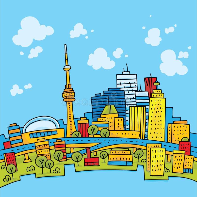 Jaskrawy Toronto ilustracji