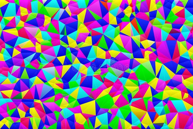 Jaskrawy wzór barwiący trójboki royalty ilustracja