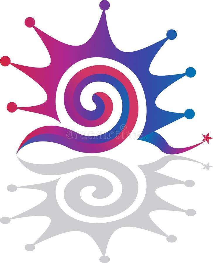 jaskrawy zawijasa logo ilustracja wektor