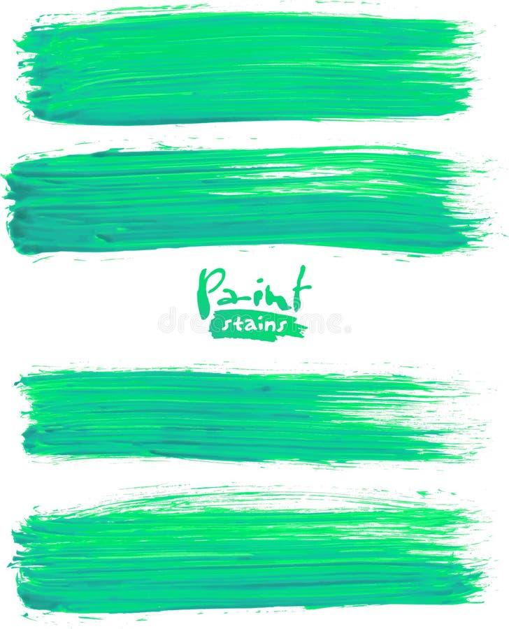 Jaskrawy - zieleni akrylowi muśnięć uderzenia royalty ilustracja