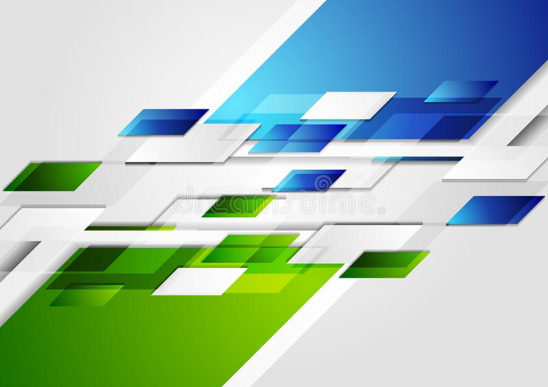 Jaskrawy - zielonej błękitnej techniki korporacyjny tło ilustracji
