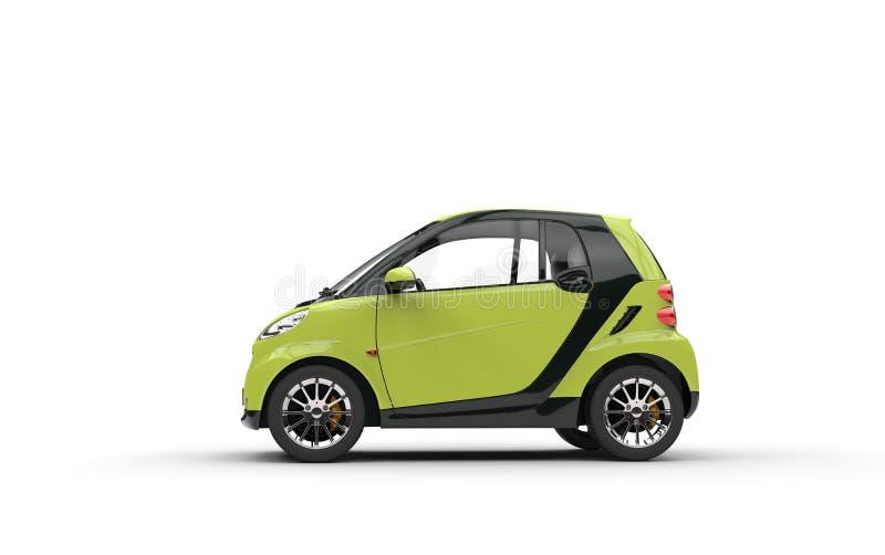 Jaskrawy - zielony Mały samochód fotografia stock