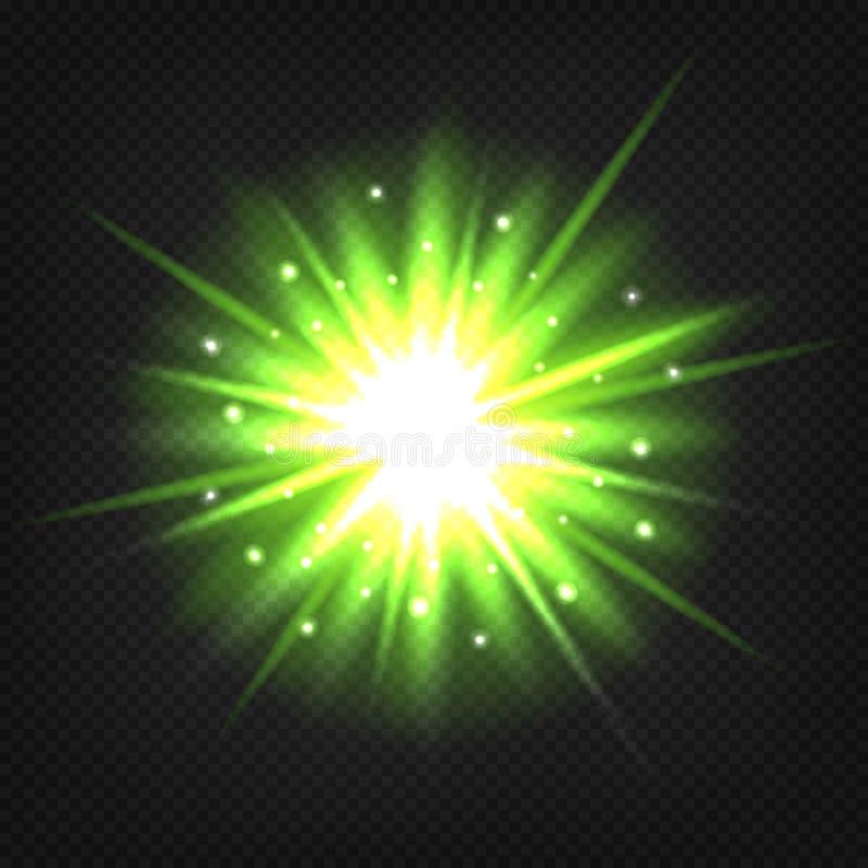 Jaskrawy - zielony wybuch ilustracja wektor