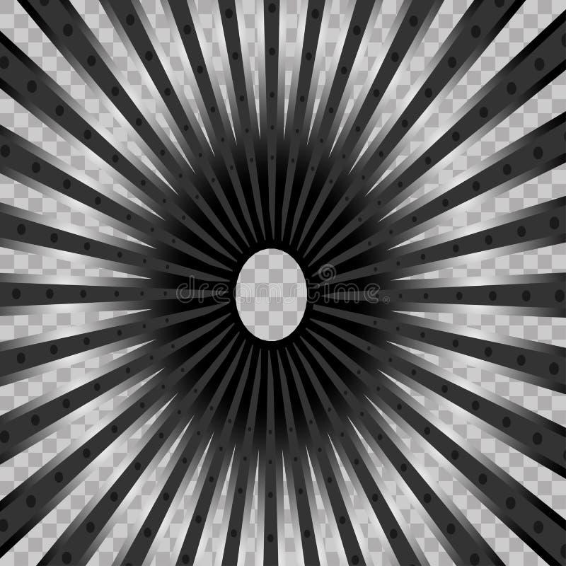 Jaskrawych promieni wektorowy lekki skutek na przejrzystym tle Sceny iluminacja z projektorami Biały rozjarzony lekki wybuch ilustracja wektor
