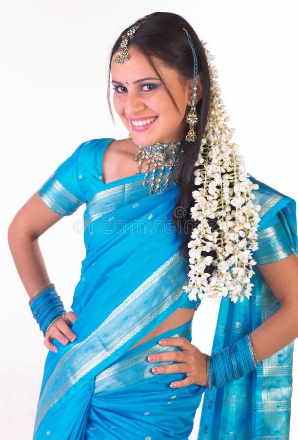 jasmin d'Indienne de fille de fleurs photos libres de droits