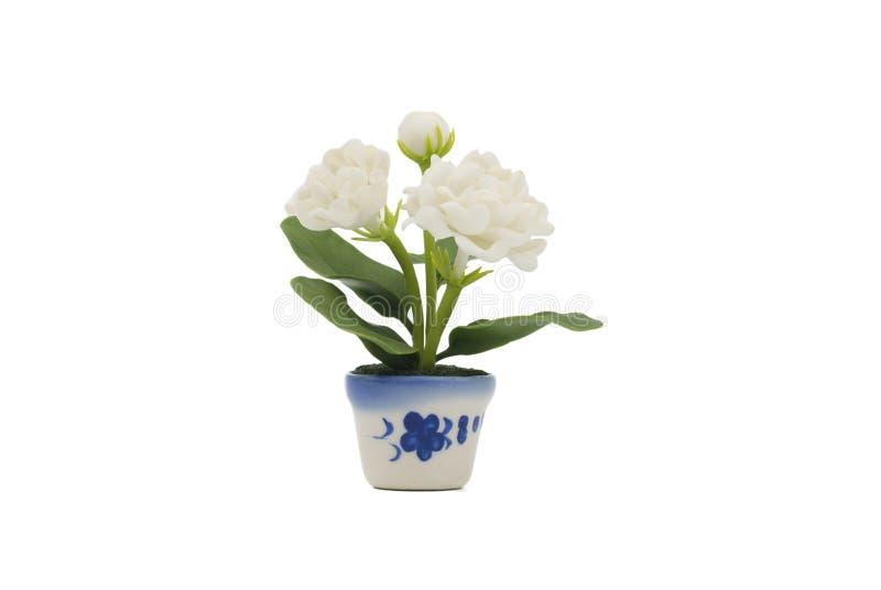 Jasmine Flower made from Japanese Clay stock photos