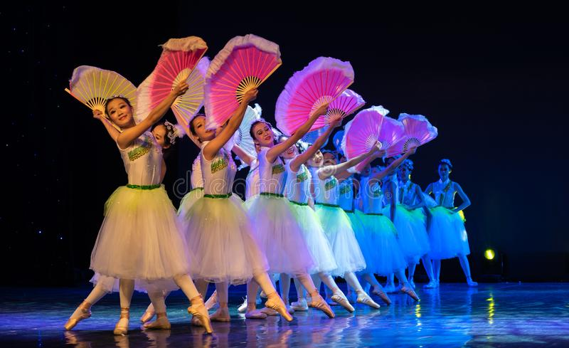 Jasmine Flowers(Blooming)-Chinese National Ballet. The National Ballet `Jasmine` is very beautiful. This is the beauty of China! With familiar folk stock photo