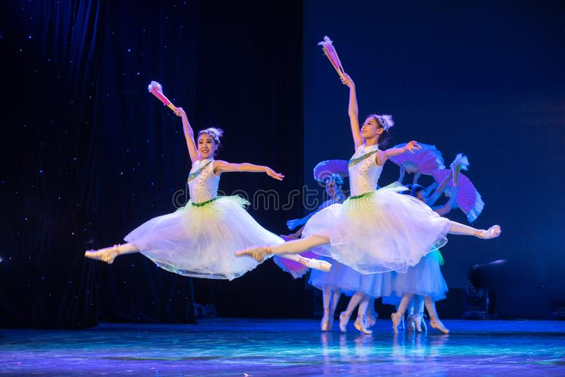 Jasmine Flowers(two)-Chinese National Ballet. The National Ballet `Jasmine` is very beautiful. This is the beauty of China! With familiar folk music stock photo
