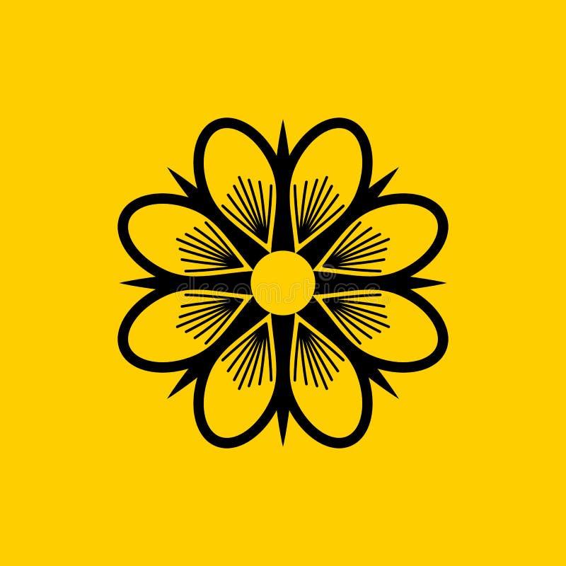 Download Jasmine Solid Logo Design vector illustratie. Illustratie bestaande uit madeliefjes - 114227684