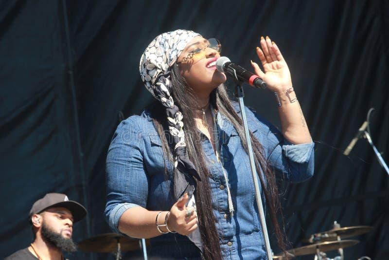 Jasmine Sullivan Performs a Texas State Fair fotografie stock