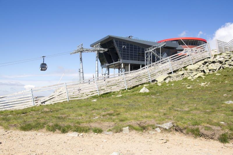 Jasna, cableway building under the Chopok mount, Nizke Tatry, Low Tatras, Low Tatra mountains, Slovakia stock photography