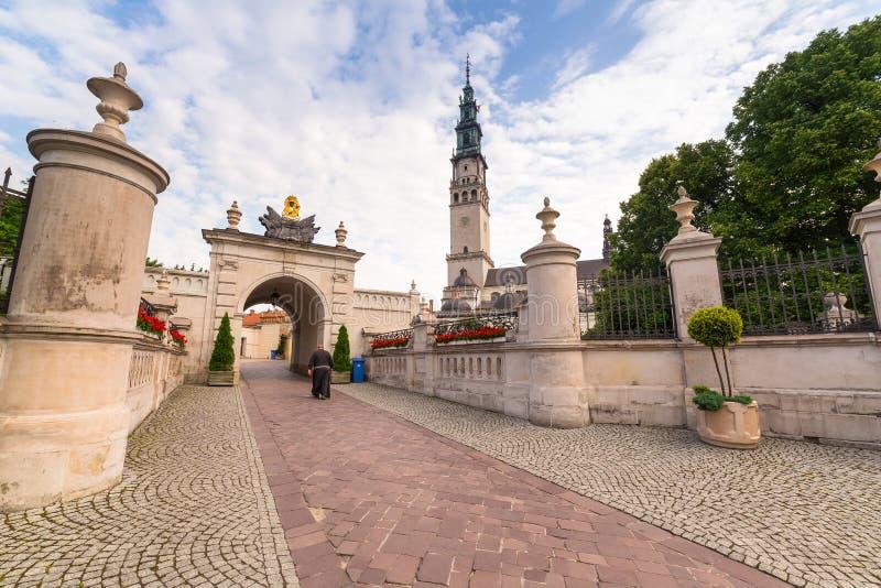Jasna Gora修道院在琴斯托霍瓦 库存照片
