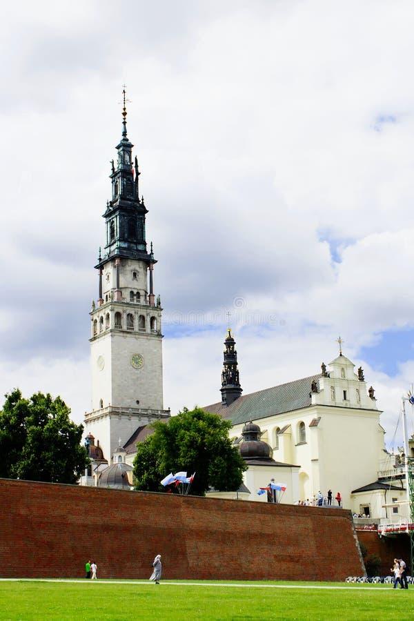 Jasna Gora in der Stadt von Czestochowa stockfotografie