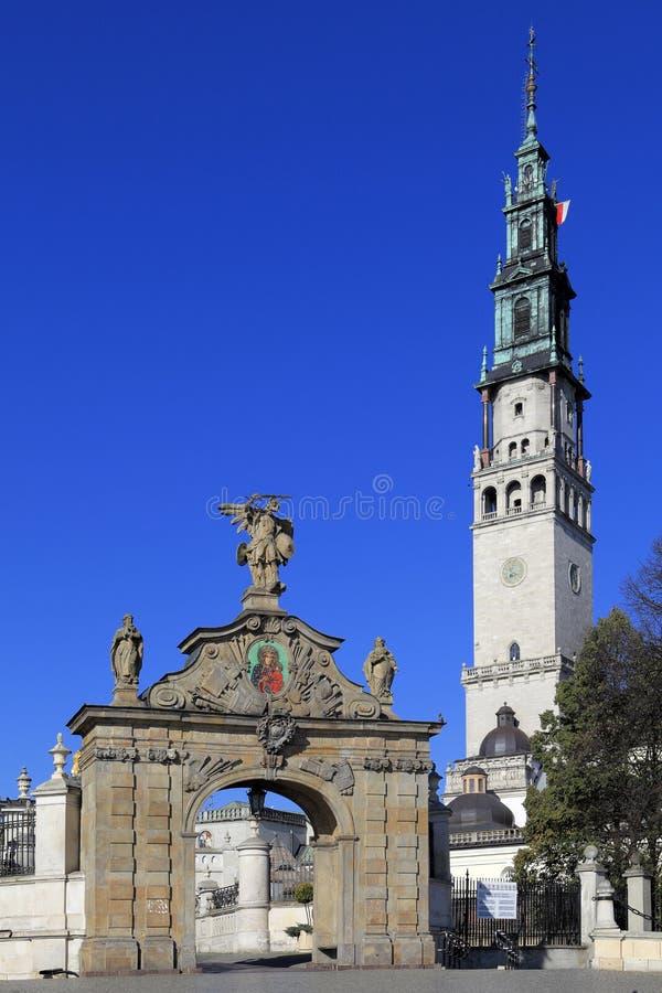 Jasna Gora Pauline Order Monastery och fristad i Czestochowa, Polen royaltyfria foton