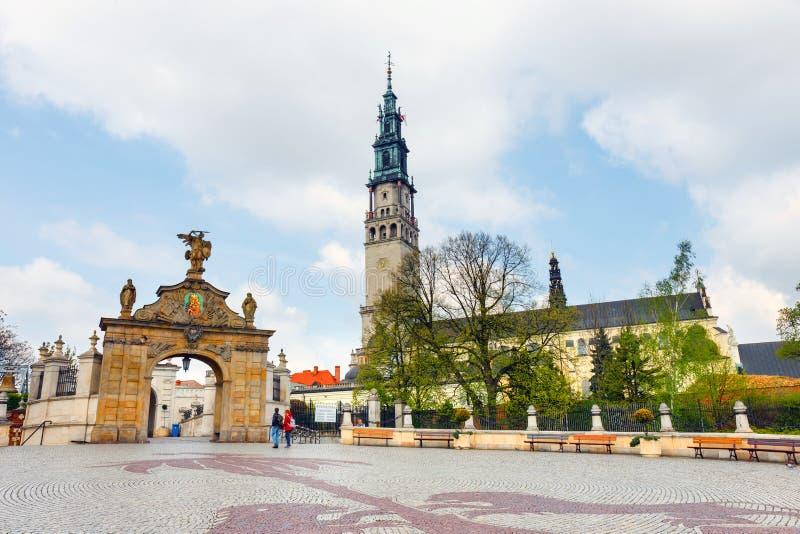 Jasna Gora sanctuary in Czestochowa, Poland. Czestochowa, Poland, 29 April 2015: Jasna Gora sanctuary in Czestochowa, Poland. Very important and most popular stock photo