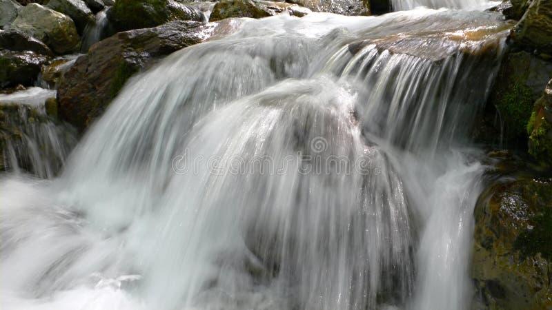 jasna kaskady kryształową rzeki obrazy royalty free