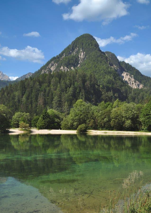 Jasna-See, Triglav-Nationalpark, Slowenien stockfotos