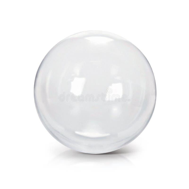 Jasna szklanej piłki 3D ilustracja obrazy stock