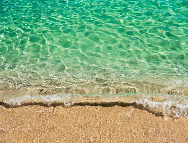 Jasna turkus woda sardinian morze zdjęcia stock