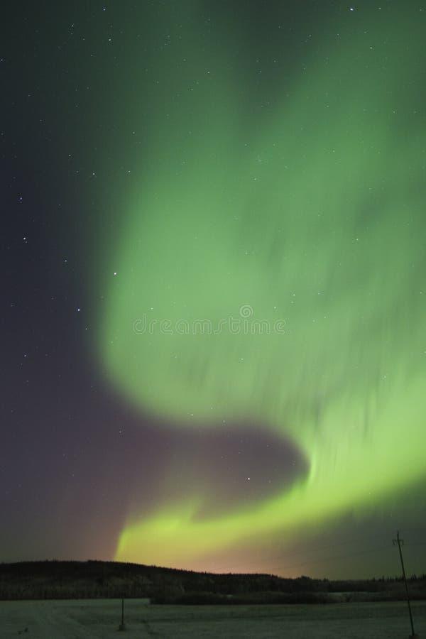 jasne auroral aktywności fotografia stock