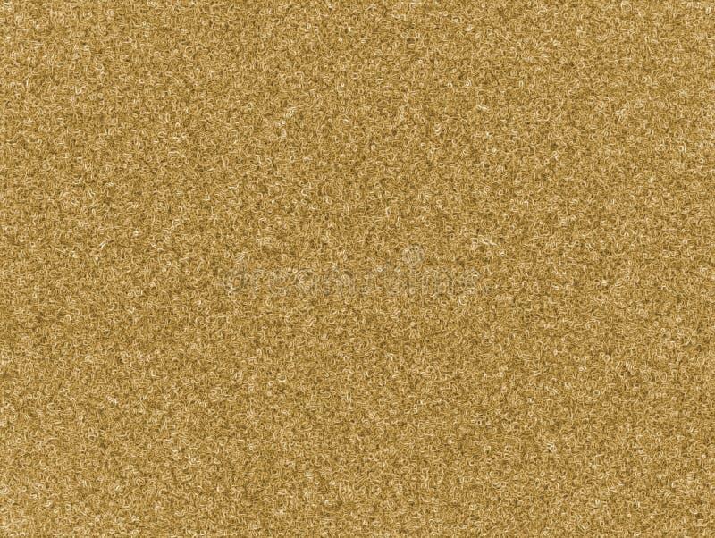 Jasnożółty naturalny kolor dywanowej wełny tekstury bezszwowy tło Doodle zawijasa plastikowy sztuczny dywanik ilustracji