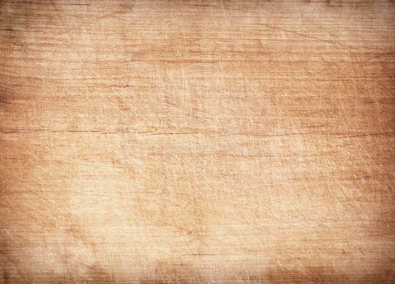 Jasnobrązowa porysowana drewniana tnąca deska Drewniana tekstura zdjęcia stock